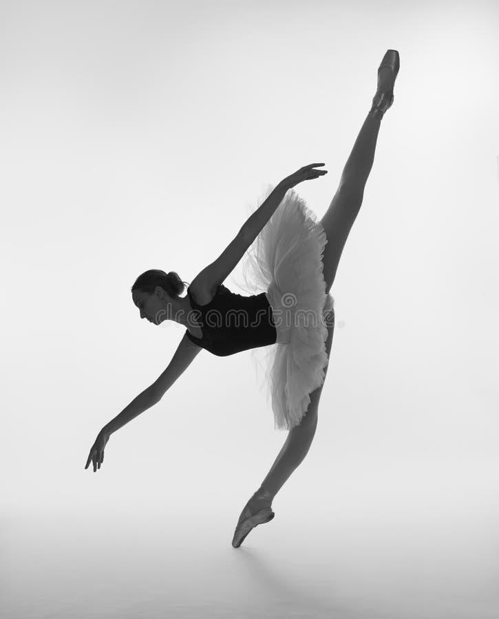 Ein Balletttänzer in einem Ballettballettröckchen lizenzfreies stockfoto