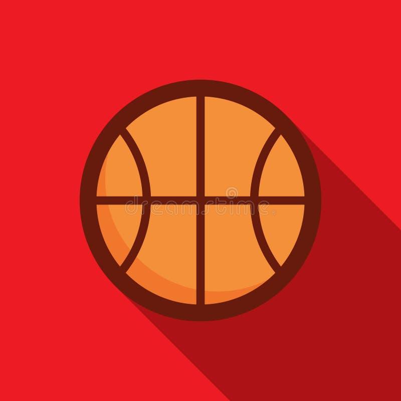 Ein Basketballball stock abbildung