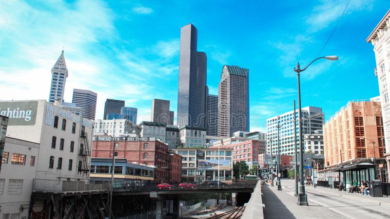 Ein beauftiful Bild des Seattles stockfotografie