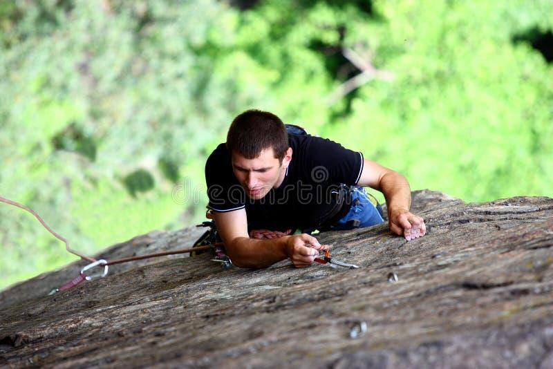 Ein Bergsteiger lizenzfreie stockbilder