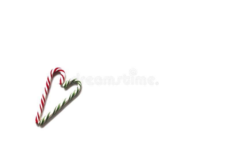 Ein Bild eines Weihnachtssüßigkeitsherzens stockfotografie