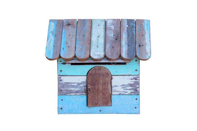 Ein Birdhouse im Schnee lizenzfreie stockfotografie