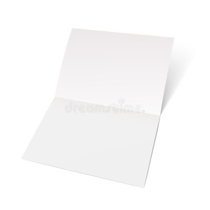 Ein Blatt Papier gefaltet zur Hälfte lizenzfreie abbildung