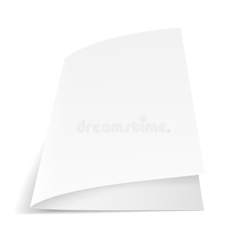 Ein Blatt Papier gefaltet zur Hälfte vektor abbildung