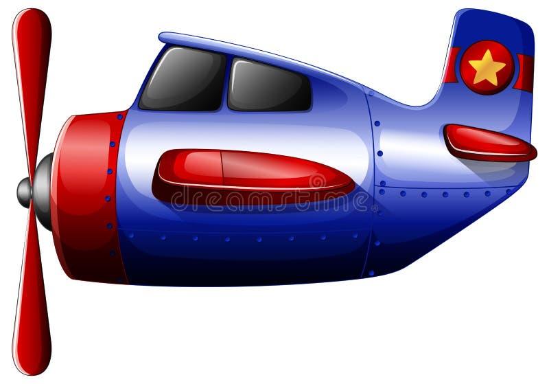 Ein blauer Propeller stock abbildung