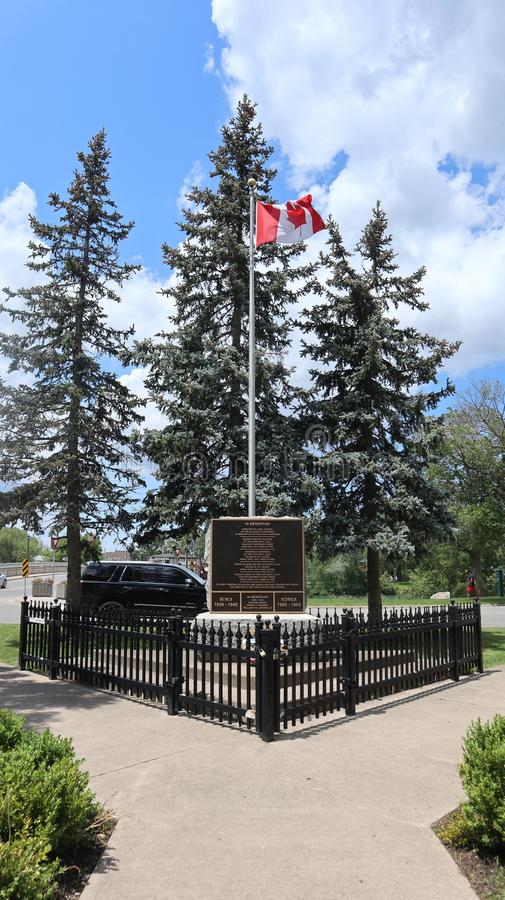 Ein Blick auf eine kanadische Flagge lizenzfreie stockfotografie
