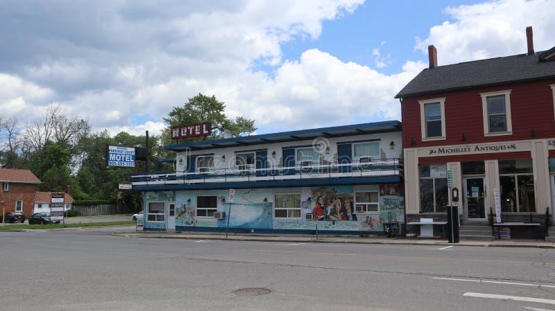 Ein Blick auf ein kleines Motel stockfoto