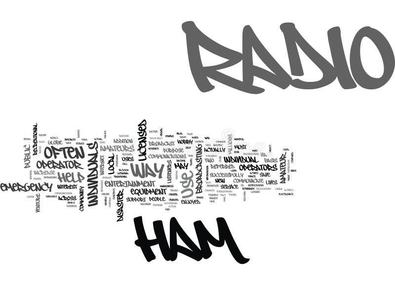 Ein Blick bei Ham Radio Word Cloud lizenzfreie abbildung