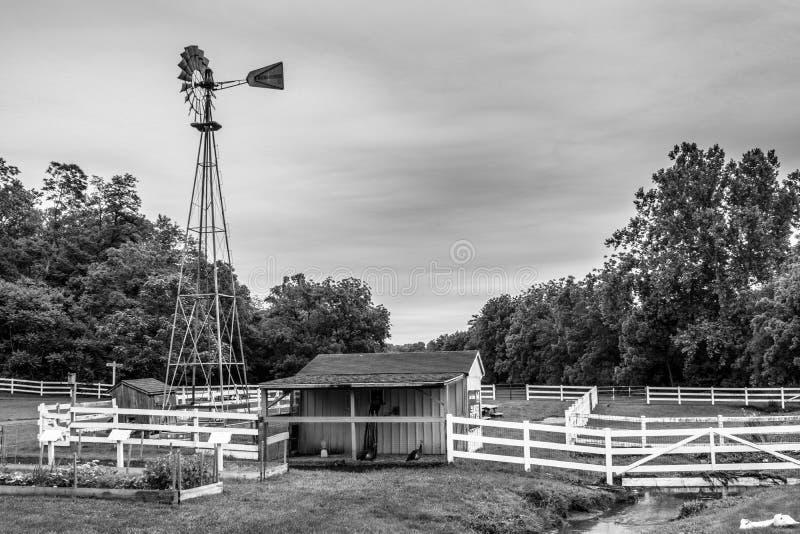 Ein Blick des traditionellen Lebensstils im amischen Dorf, Pennsylvania stockfoto