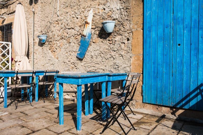 Ein Blick von Marzamemi-Dorf, Sizilien stockbild