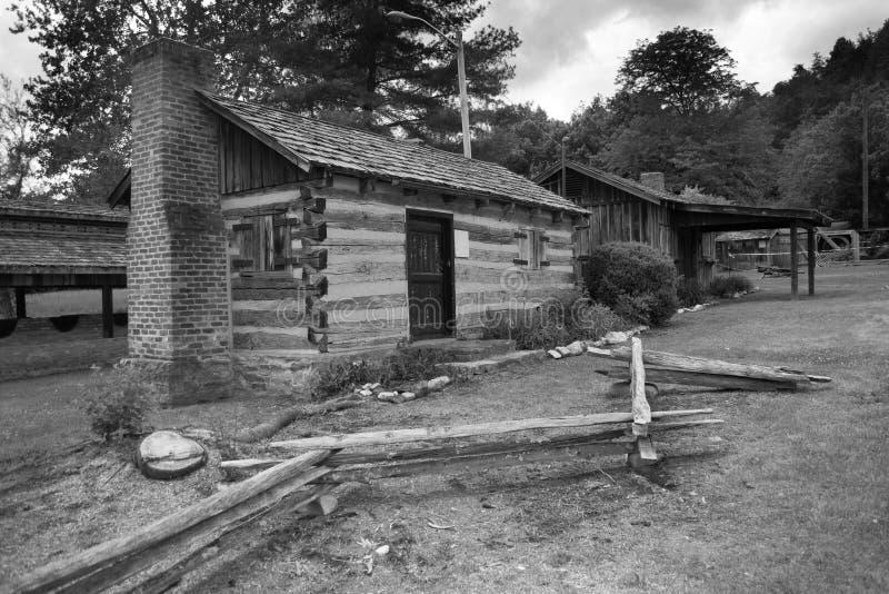Ein Blockhaus am Salz-Park in Saltville, VA stockfotos
