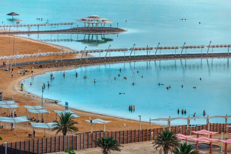 Ein Bokek Nieżywego morza kurort obraz royalty free