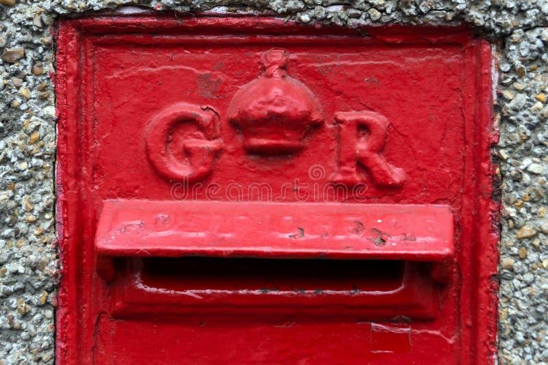 Ein 6. Briefkasten Georges in Essex stockbild