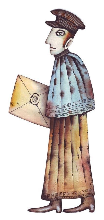 Ein Briefträger lizenzfreie abbildung
