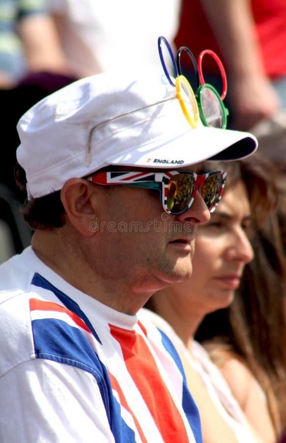 Ein britischer Verfechter an den Olympischen Spielen 2012 lizenzfreies stockfoto