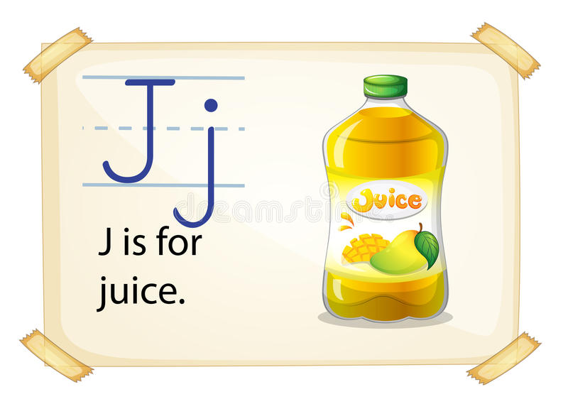 Ein Buchstabe J für Saft stock abbildung