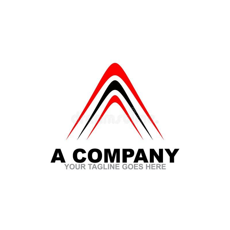 Ein Buchstabe Logo Design Template lizenzfreie abbildung