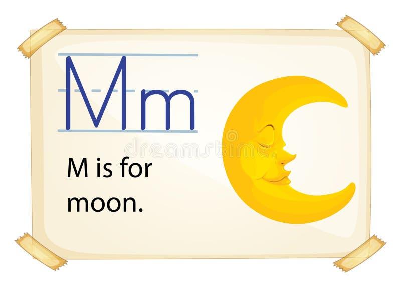 Ein Buchstabe M für Mond vektor abbildung