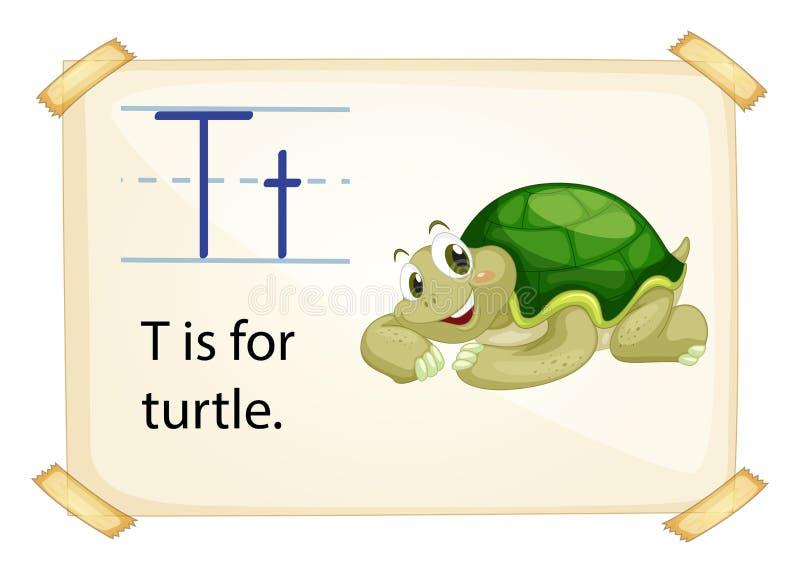 Ein Buchstabe T für Schildkröte lizenzfreie abbildung