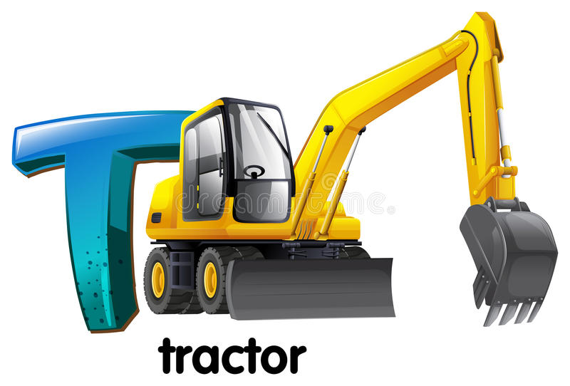 Ein Buchstabe T für Traktor vektor abbildung
