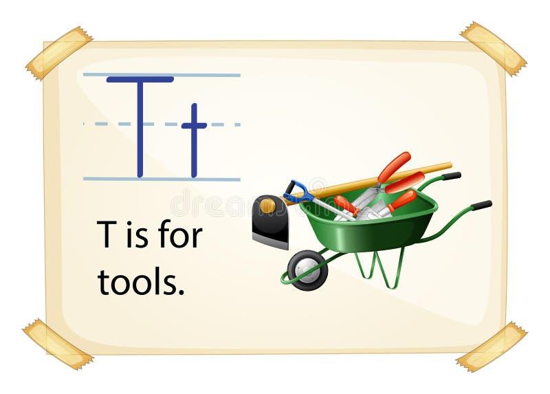 Ein Buchstabe T für Werkzeuge vektor abbildung