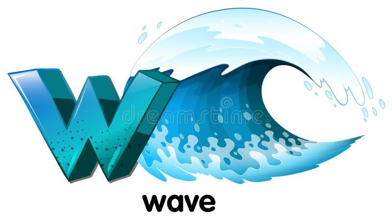 Ein Buchstabe W für Welle stock abbildung