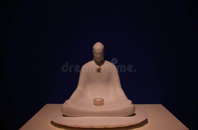 Ein Buddha im Museum stockbilder