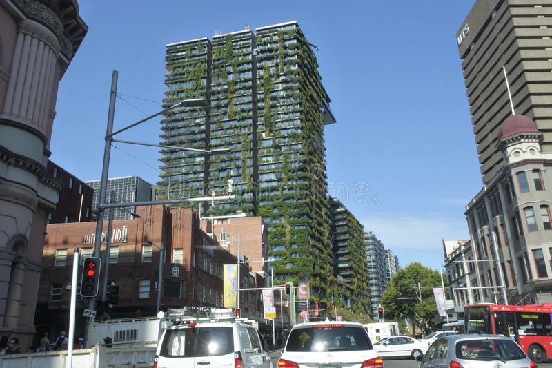 Ein Central Park-Gebäude in Sydney New South Wales Australia stockfotografie