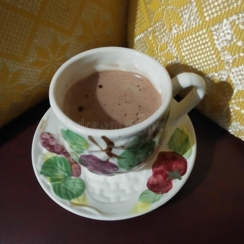 Ein Cup heiße Schokolade lizenzfreie stockbilder