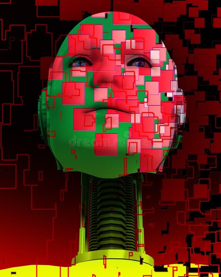 Ein cyborg-Kopf 5 lizenzfreie abbildung