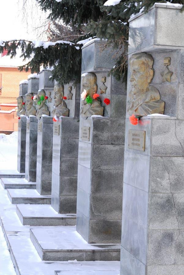 Ein Denkmal zu den Soldaten von der Stadt von Biysk lizenzfreie stockfotos