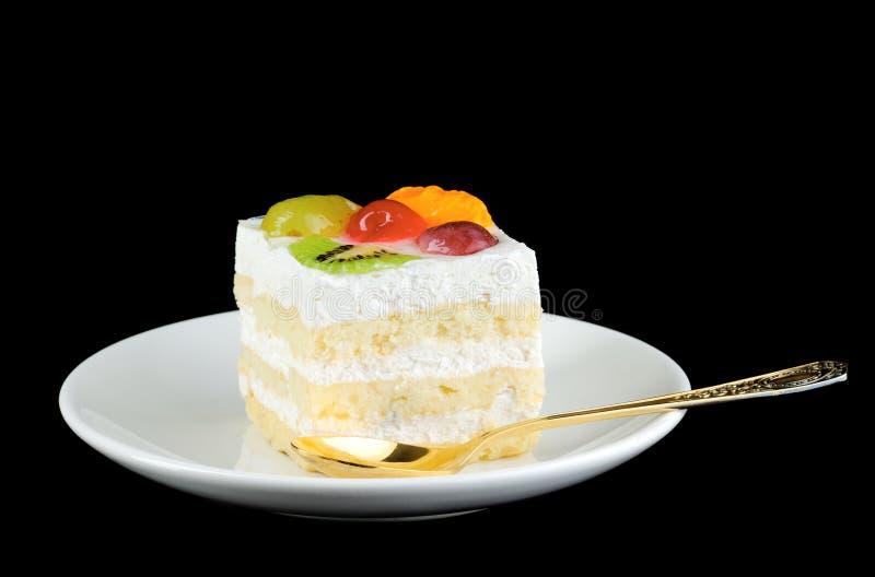 Ein Desserfruchtkuchen lizenzfreie stockbilder