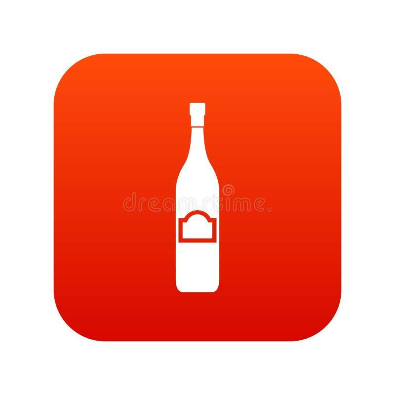 Ein digitales Rot der Flaschenikone vektor abbildung