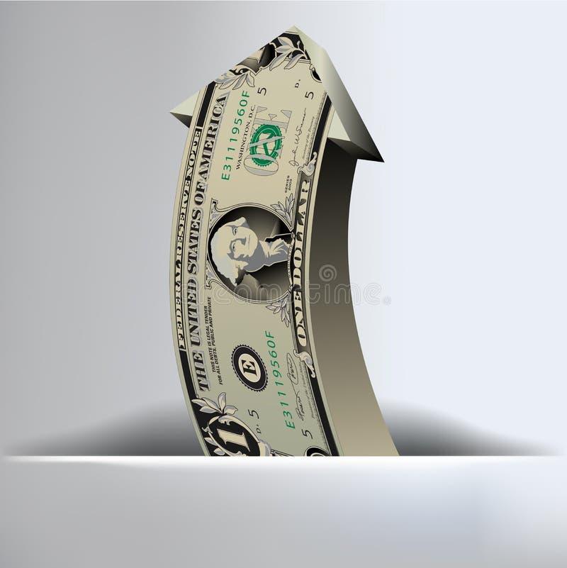 Ein Dollar-Pfeil-Hintergrund stock abbildung