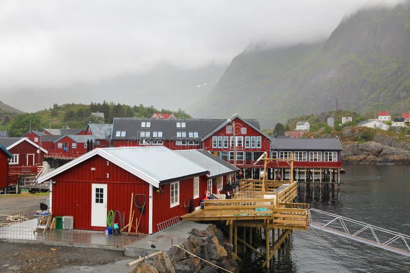 Ein Dorf, Lofoten lizenzfreie stockfotografie