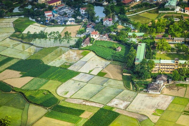 Ein Dorf in Nord-Vietnam stockfotos
