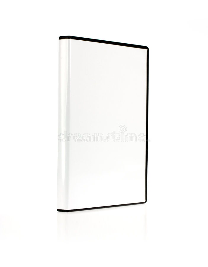 Ein DVD Kasten getrennt auf Weiß stockbild