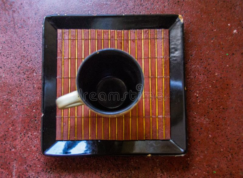 Ein einfacher Tasse Kaffee stockfotos