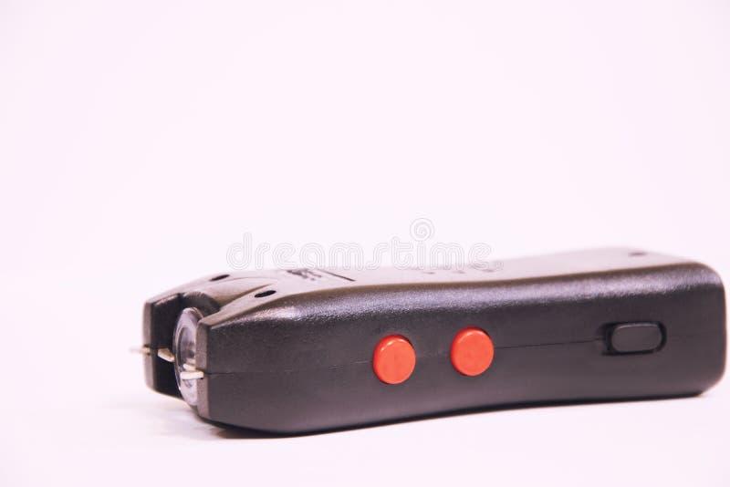 Ein Electroshocker auf einem weißen Hintergrund stockfotos