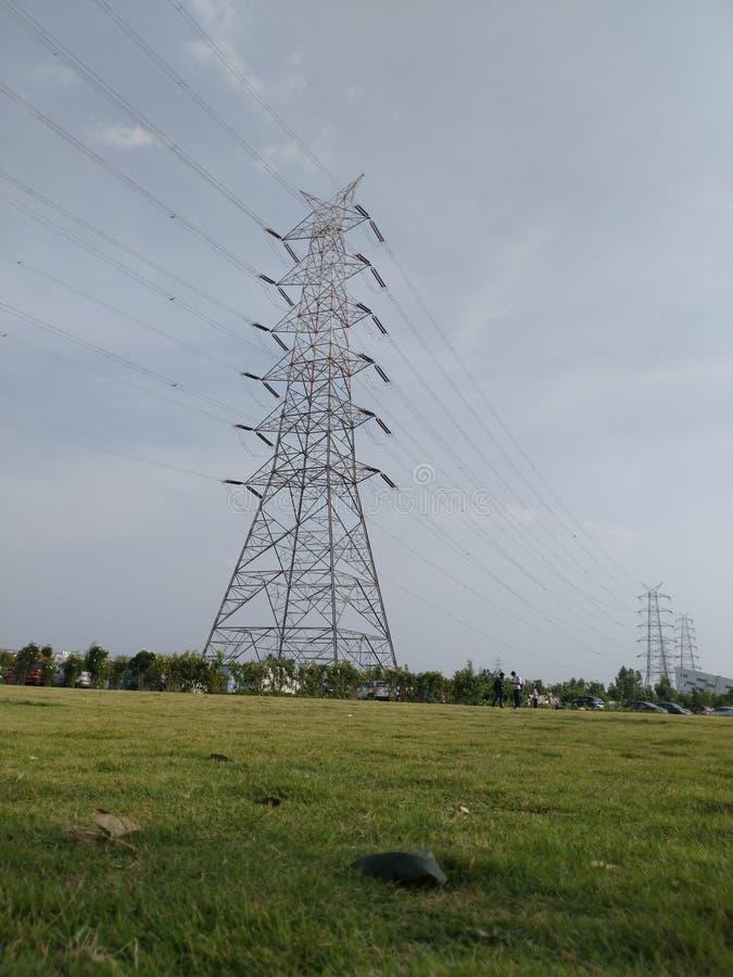 Ein elektrischer Turm lizenzfreie stockbilder