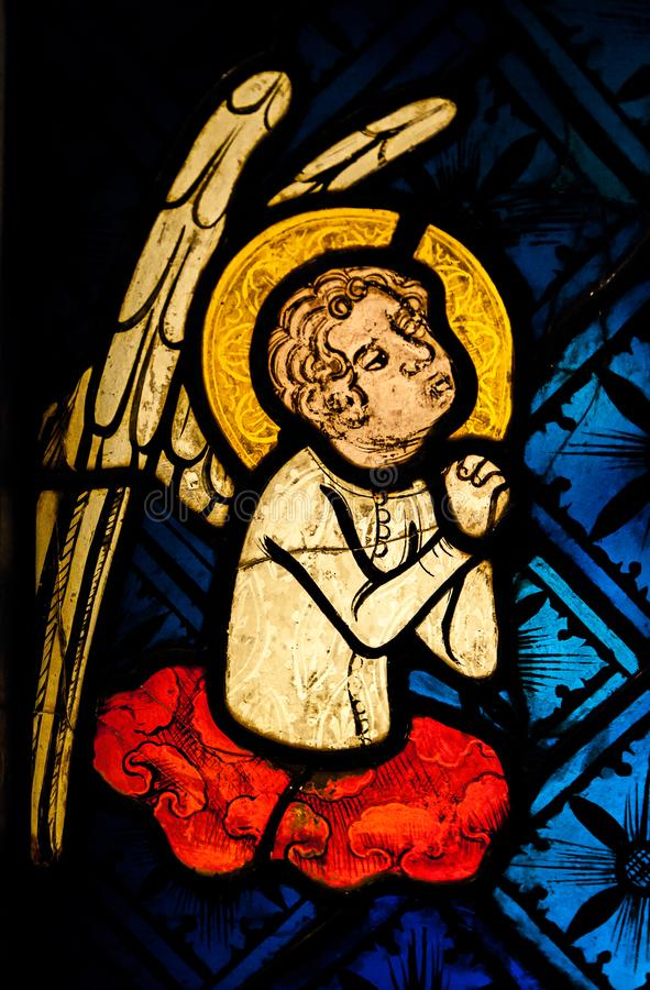 Ein Engel im Gebet stockfotos