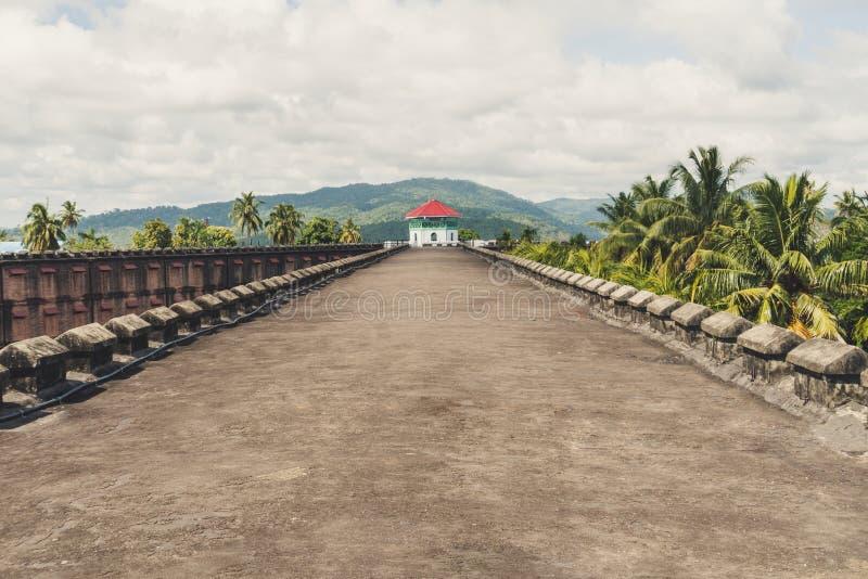 Ein enormes Gefängnis in Port Blair, Draufsicht stockfotografie