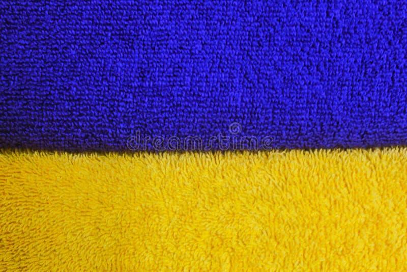 Ein Entwurf von zwei Farben von Blauem und von Gelbem stockfotografie