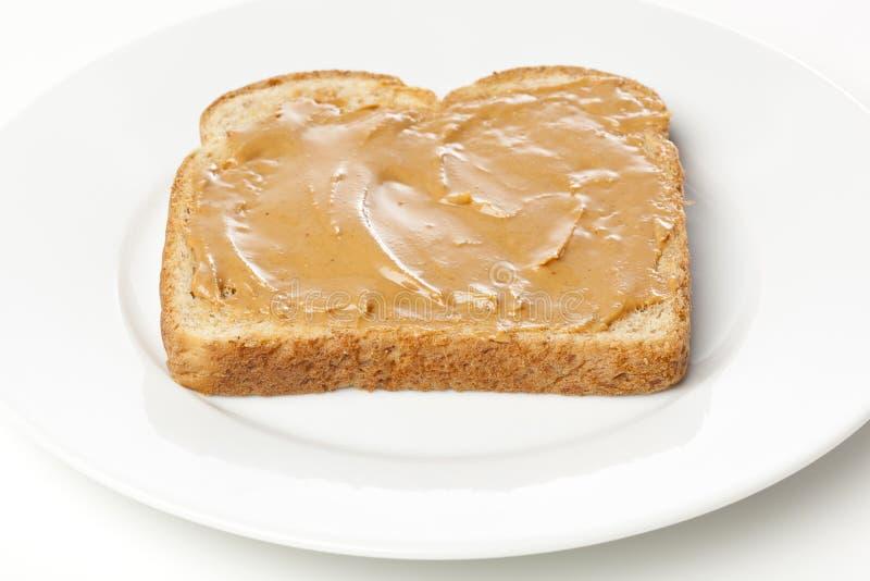 Ein Erdnussbuttersandwich lizenzfreie stockfotos