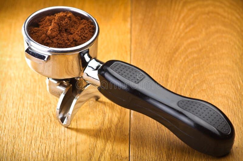 Ein Espressomaschinengruppenanführer lizenzfreie stockbilder