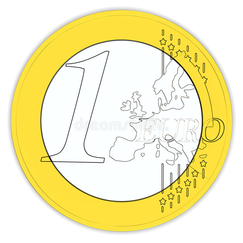 Ein Euro vektor abbildung