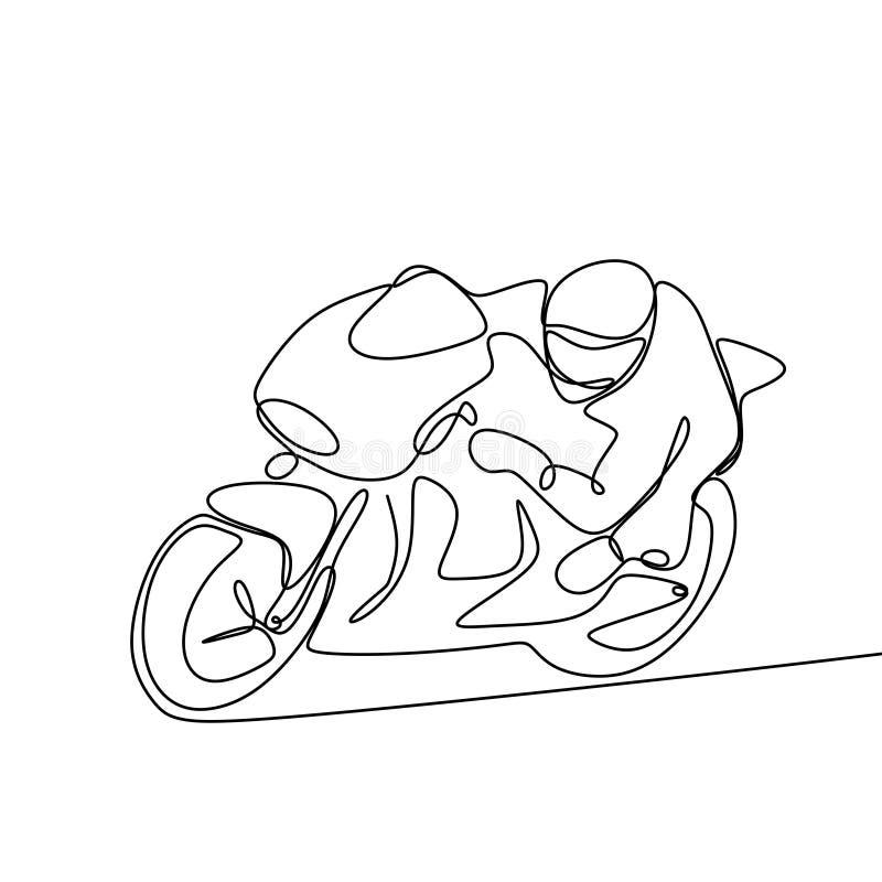 ein Federzeichnung Motor laufend auf weißem Hintergrund stock abbildung