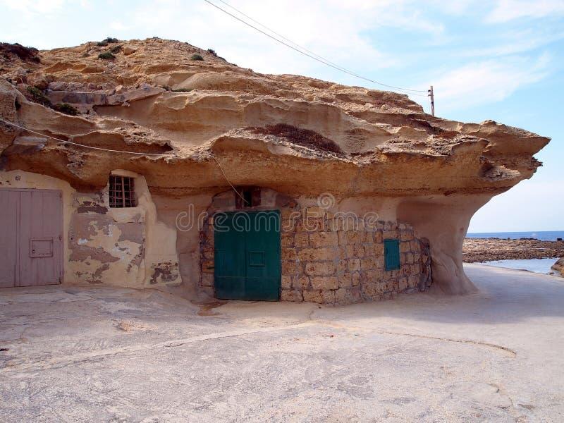 Ein felsiges Haus stockfotografie