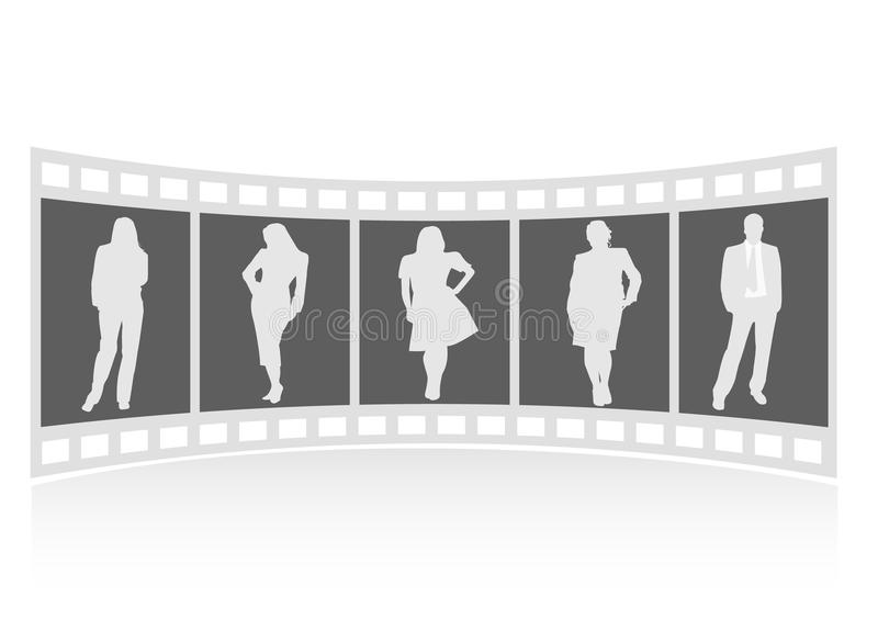 Ein Filmstreifen mit Geschäftsleuten vektor abbildung