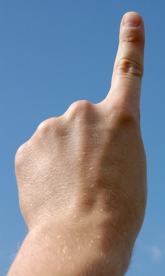 Ein Finger stockbild
